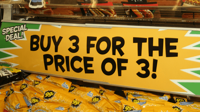 Promotion pricing.